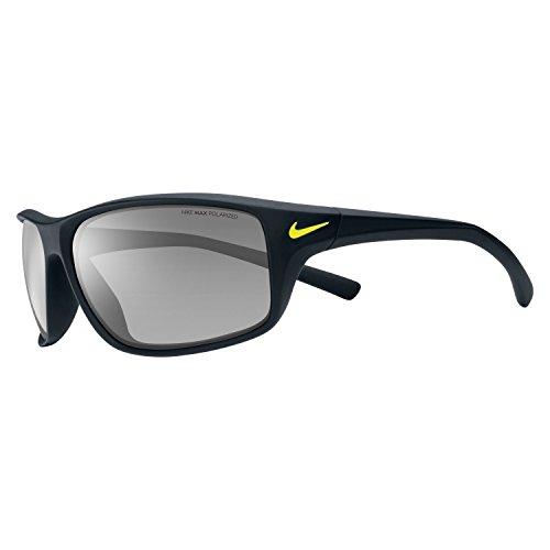 Nike Herren Adrenaline Ev0605 007 64 Sonnenbrille, Schwarz (Matte Blk/Gry W/Slvr Flash)