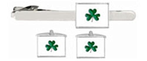 DLC Irish Shamrock Manschettenknöpfe & Tie Clip Set