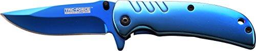 Tac Force TF de 847Series Spring Knife asistido, Longitud de la Hoja: 7cm, Unisex, Taschenmesser Blue TI-Schicht, Klingenlänge: 7 cm, TAFO-1330, Azul