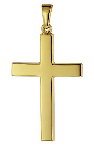 trendor Kreuz-Anhänger für Herren 28 mm Gold 333 / 8K Herren Goldanhänger, modischer Kreuzanhänger, Geschenkidee, eleganter Schmuck aus Echtgold 75541