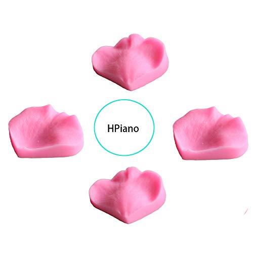 HPiano 4 Stücke Zucker Handwerk Kunst Rose Blume Blütenblätter Veiner Fondant Vereisung Silikon Vereisung Schimmel Präge Kuchen DIY Formen Candy Dekoration Form Kuchen dekorieren Formen