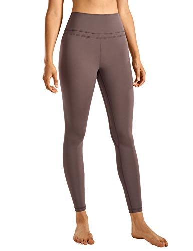 CRZ YOGA Damen Sports Yoga Leggings Sporthose mit Hoher Taille-Nackte Empfindung -63cm Lila Taupe 40