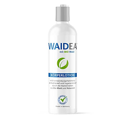 WAIDEA Körperlotion mit BIO- Waid 200ml, Bodylotion, Salbe, Neurodermitis, Schuppenflechte, Psoriasis, Problem-Haut, Pflege-Lotion