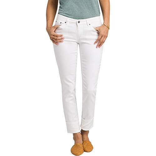 Prana Damen Kara Jeans, weiß, 0