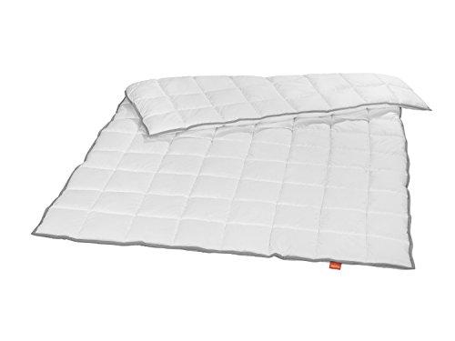liebling winterwarmes Steppbett Kassettendecke Bettdecke mit Top Cool Gewebe 135 x 200 cm, weiß