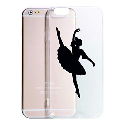 Social Crazy Cover iPhone XS - XR - XS Max -6-6 Plus - 6S - 6S Plus - 7-7 Plus - Ballerina Modello 1 Trasparente Vari Colori UltraSottili AntiGraffio Antiurto Case Custodia (iPhone XR, Trasparente)