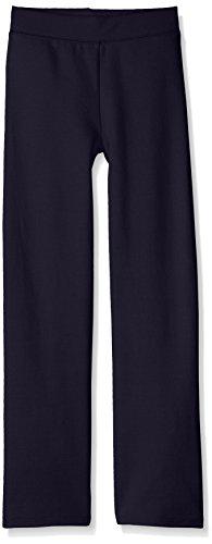 Hanes Girls' Big ComfortSoft EcoSmart Open Bottom Leg Sweatpants, Navy, L