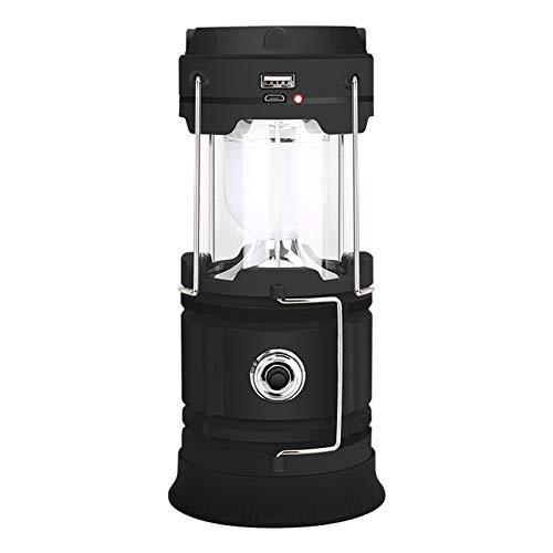 Sunnyushine LED-Wiederaufladbare Camping-Laterne, Camping-Licht Tragbare Solar-Outdoor-LED-Taschenlampe, Für Camping, Wandern, Angeln, Leistungskürzungen Und Mehr