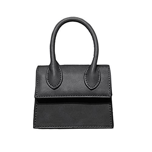 Cute Purse Mini Crossbody Bags for Women Girls Top Handle Clutch Handbag (black 1)