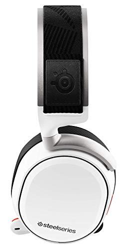 SteelSeries Arctis Pro Wireless – Drahtlos Gaming-Headset – hochauflösende Lautsprechertreiber – kombiniertes Funksystem (2,4 GHz & Bluetooth) - für PS5, PS4 und PC – Weiß