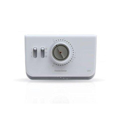 Fantini Cosmi C61 Termostato Ambiente per Ventilconvettori, Bianco