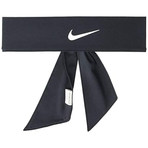 Nike Fascia Tennis Dri-Fit Head Tie 3.0 Swoosh capelli Del Potro Nadal (Nero)