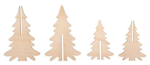 Rayher Hobby 46332000 Holzsteckteile, Holz, Braun, One Size