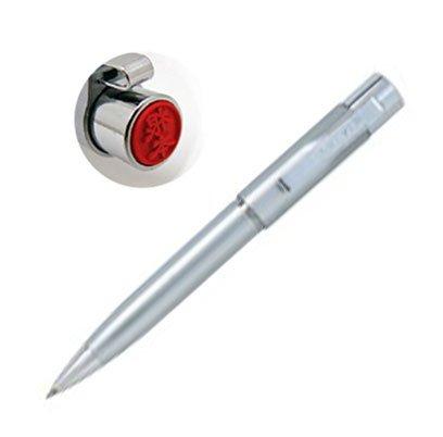 ネームペン スタンペンG ノック式 印鑑付きボールペン (シャチハタ式ネーム印+ボールペン) (シルバー)