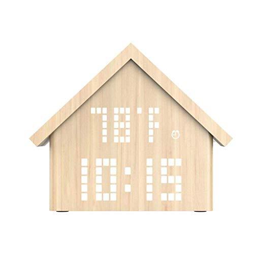 MJ-Alarm Clock Affichage électronique de la température et de l'humidité du réveil LED, lumière de réveil créatif Snooze