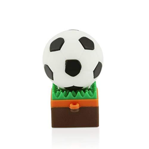 STAR-LINK Schöne Fußballform USB-Stick 32GB USB 2.0 Green Grass Niedlich Cool Lustige Figuren Memory Stick Pen Drive Daumenscheibe Modegeschenk (32GB Grassland Football)