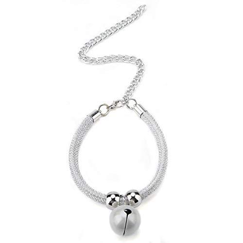 SALUTUYA Einstellbare Länge Cat Bell Collar für Cat Small Dog(Simple White)