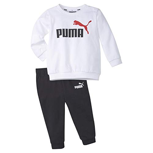 PUMA Kinder Minicats ESS Crew Jogger Trainingsanzug, White, 98