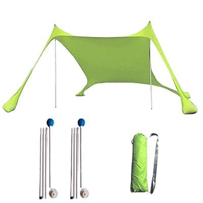 DealinM Pop Up Beach Tent Sun Beach Shelter Outdoor Shade for Camping Trips, Fishing, Backyard Fun or Picnics