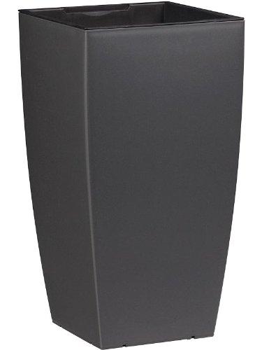 Dehner Pflanztopf mit Bewässerungssystem, ca. 57 x 30 x 30 cm, Kunststoff, granit