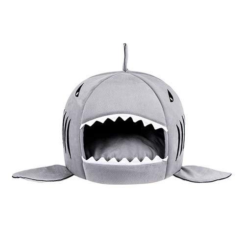 N\A Katzenbett, Warme Welpe Kennel Nest Matte Shark Katze Haus Haustier Weiche Bett...
