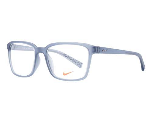Nike - NIKE 7096, Rechteckig, allgemein, Herrenbrillen, SHINY DARK SILVER (070 ), 53/17/140