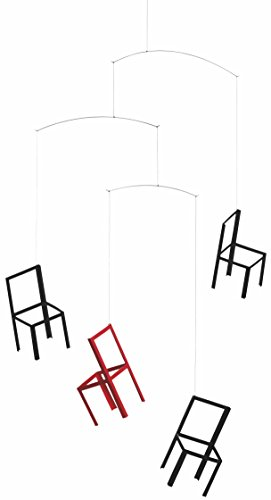 Flying Chairs Hanging Mobile - 22 Inches - Handmade in Denmark by Flensted