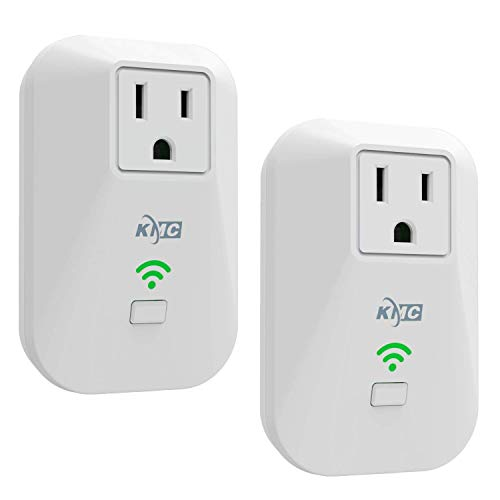 KMC KMC 2-pack Smart Plug Outlet Mini,Works Amazon Alexa/Google Home/IFTTT white