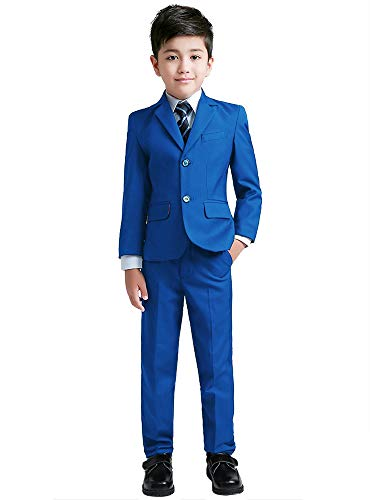 YuanLu Suits for Boys Toddler Tuxedo Slim Fit Teen Clothes Royal Blue Size 2T