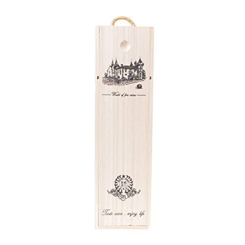 ZIRAN Caja de Vino de Madera de la Caja de Embalaje del Regalo del Portador del Vino Tinto de Madera de Pino por Encargo