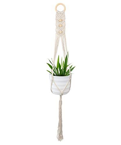 DIAOCARE Makramee Blumenampel,Blumentopf Hängend Pflanzenhalter für Innen, Außen, Decken Balkone,Wanddekoration, Home,Office,Hochzeit Dekoration