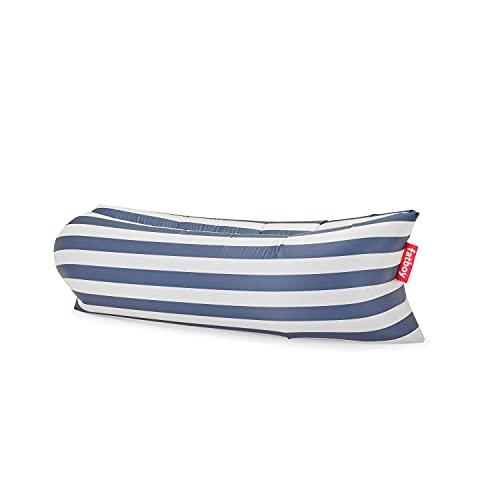 Fatboy® Lamzac The Original 3.0 Stripe Ocean Blue | Aufblasbares Sofa/Liege, Sitzsack mit Luft gefüllt | Outdoor geeignet | 185 x 83 x 50 cm