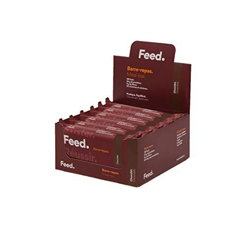Barre-repas Chocolat - Feed. Original - Pack de 12 x 100g - 20gr de protéines - 400kcal par repas.