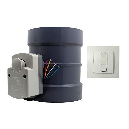 PVC -AC220v 8N HVAC compuerta motorizada para ventilación aire fresco valvula obturador valvula conducto diámetro 110 160 200 250 315 mm (Diámetro interno 200mm + altura 238mm)