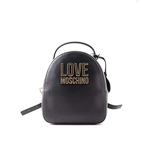 Love Moschino PreCollection Ss21 Damen-Rucksack, PU-Rucksack, Größe M, Schwarz - Schwarz - Größe: Medium
