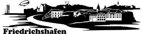 Wandtattoo Skyline Friedrichshafen XXL Text Stadt Wand Aufkleber Wandsticker Wandaufkleber Deko sticker Wohnzimmer Autoaufkleber 1M166, Skyline Größe:Länge 160cm