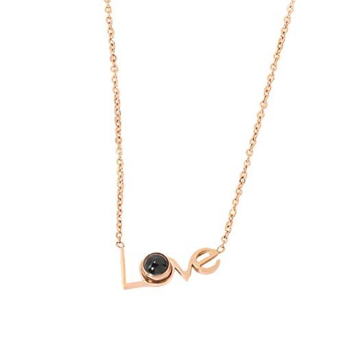 SOIMISS 1pc Stylish Couple's Necklace Love Necklace (Rose Gold) Decoration