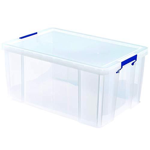 BANKERS BOX ProStore Große Aufbewahrungsbox mit Deckel 70 Liter aus Plastik (Innenmaße 30 x 58 x 38,5cm), 1 Stück