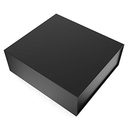 Scatola regalo grande rettangolare JIAWEI – 35 x 35 x 13 cm con coperchi e chiusura magnetica – per matrimoni, compleanni e baby – damigella d'onore FSA con un biglietto di auguri e carta tissue