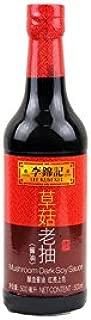 Lee Kum Kee Mushroom Flavored Dark Soy Sauce Reddish Brownd Color   Pack of 1