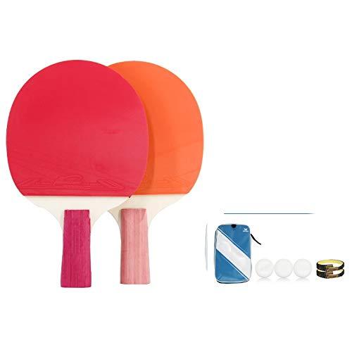 Best Bargain Hewen-Ping Pong Set Beginner Level Pingpong Paddle Table Tennis Racket Ping Pong Bat Se...