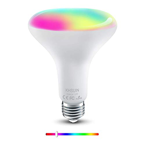 [2021 Upgrade] Smart Bulb,2.4G WiFi E26 BR30 13W(100w Equivalent) RGBCW Color Changing Light Bulb Compatible with Alexa and Google Assistant,Smart Bulbs That Work with Alexa