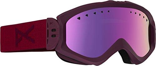 Anon Damen Snowboardbrille Skibrille Majestic, Nightout/Pink Sq, 10763102531