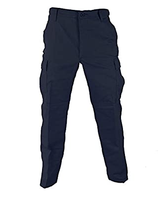 Propper Men's Zip Fly BDU Trouser, LAPD Navy, Large Regular