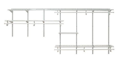 ClosetMaid 2091 ShelfTrack 7ft. to 10ft. Adjustable Closet Organizer Kit, White