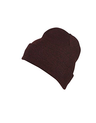 Myrtle beach Melange Beanie in dark-red-melange Taille: Taille unique