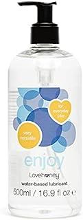 Lovehoney Enjoy Clear Water Based Lube - Vegan Friendly and Condom Safe - Light & Natural Feel - 500ml