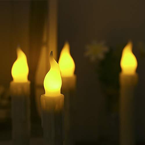 JKZX LED Lunga elettronico Candele Creativo di Simulazione Tears Telecomando a lume di Candela di Nozze religiose Candele Decorazioni Halloween (Color : Yellow)
