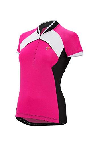 Briko GT Jersey Lady - Maillot de Ciclismo para Mujer, Color Fucsia/Negro/Blanco,...