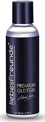 liebesfreunde® Premium Gleitgel wasserbasiert ALOE VERA - Gleitmittel I Lube für mehr Genuss, 150 ml
